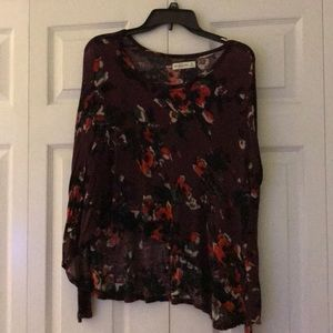 Abercrombie floral long sleeve shirt